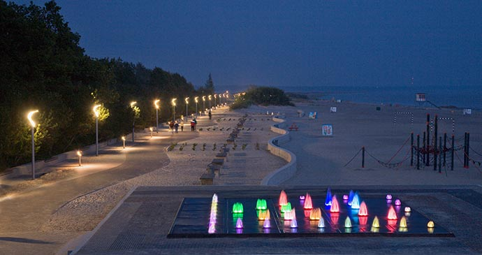 A nightime view of the beach at Pärnu, Estonia by Visit Estonia