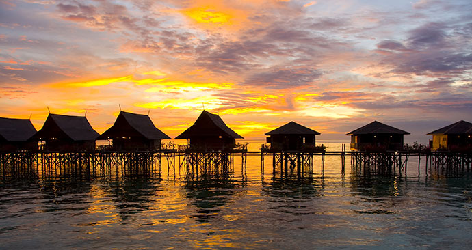 Huts, Borneo, Malaysia by blung, Shutterstock