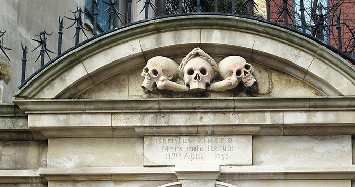 Skulls St Olave's gate Clon Howley
