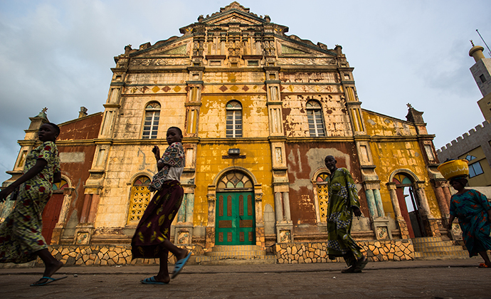 Grand Mosque Porto-Novo Benin by Stuart Butler