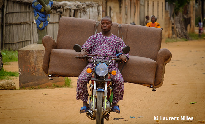 Zemidjan, taxi, Benin, Laurent Nilles