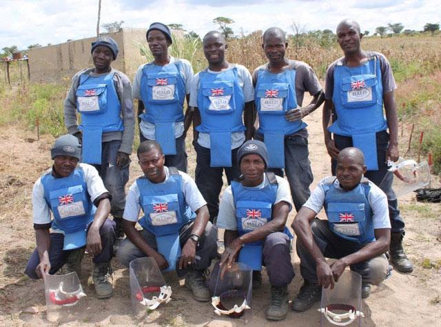 Demining team, Angola