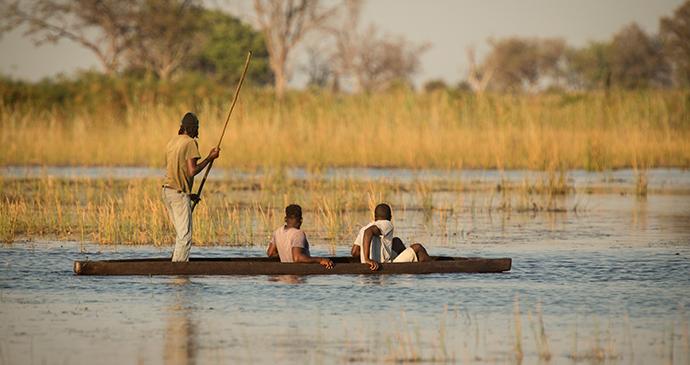 Mokoro trip, Okavango Delta, Botswana by Janelle Lugge, Shutterstock