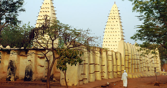 Grand Mosque Bobo-Dioulasso Burkina Faso Africa by Trevor Kittelty Shutterstock