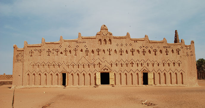 Mud mosque Bani Burkina Faso Africa by Jim O'Brien