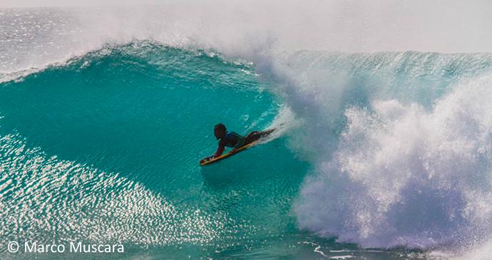 Bodyboarder, Ponta Preta, Sal Island, Cape Verde, Marco Muscara