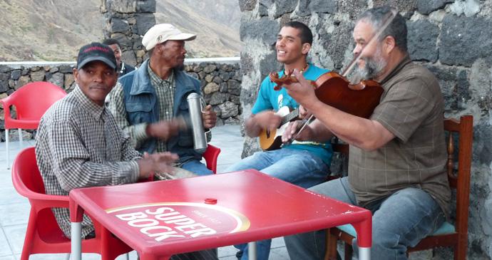 Musicians in Chã das Caldeiras, Cape Verde