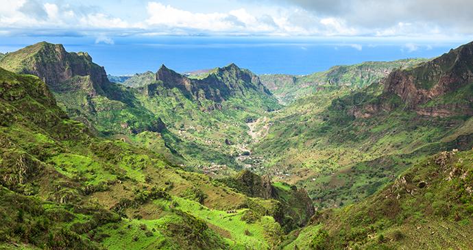 Mountains at Serra Malagueta, Santiago Island, Cape Verde