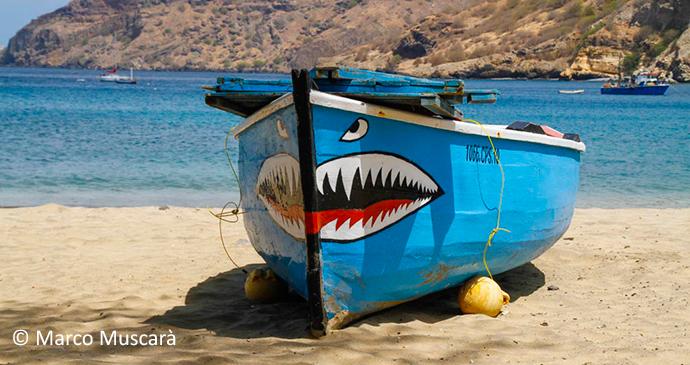Shark Boat, Tarrafal Beach, Santiago Island, Cape Verde, Marco Muscarà