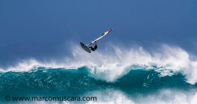 Windsurfer Ponta Preta Cape Verde by Marco Muscara