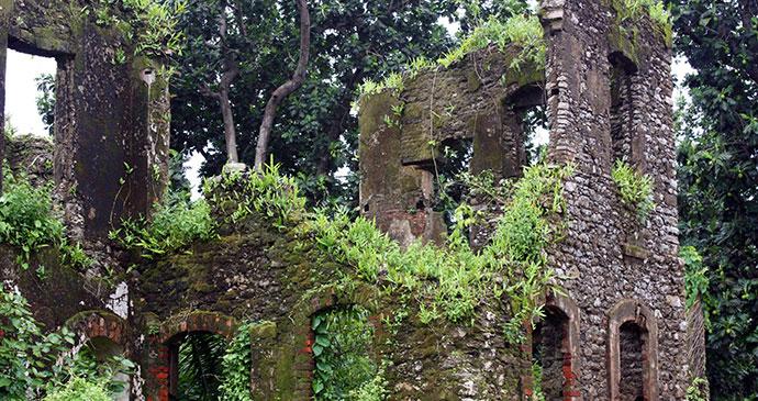 Monastery ruins Corisco Island Equatorial Guinea by Oscar Scafidi
