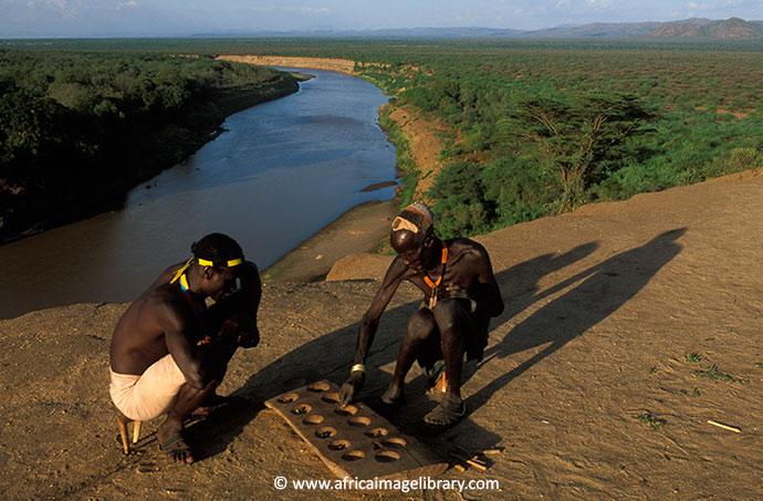 Karo men Ethiopia by Ariadne Van Zandbergen