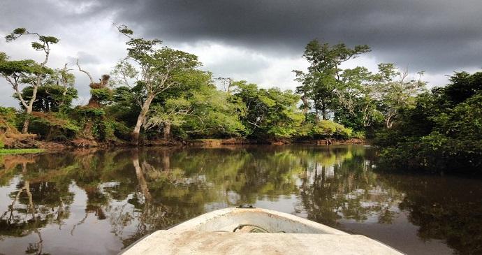 Canoe Ride Gabon by Sean Connolly