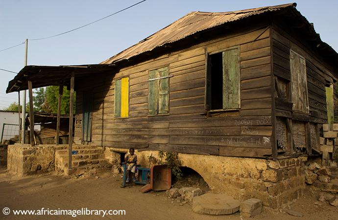 Creole house, Janjanbureh, The Gambia by Ariadne van Zandbergen