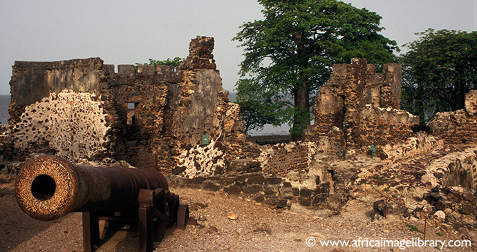 Remains of Fort James, James Island, The Gambia by Ariadne Van Zandbergen, www.africaimagelibrary.com
