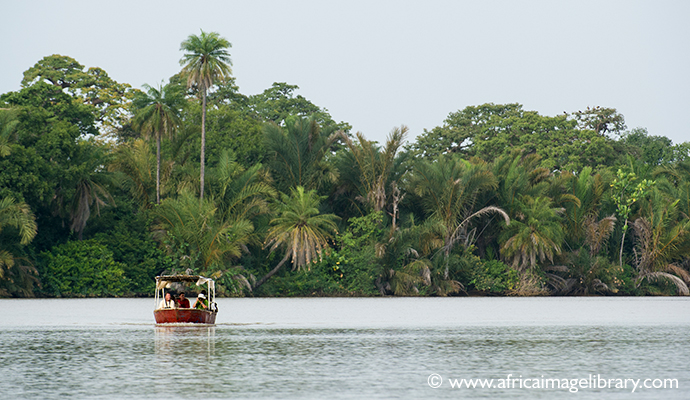 Boat, River Gambia, The Gambia by Ariadne van Zandbergen