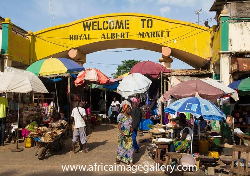 Albert Market Banjul The Gambia by Ariadne Van Zandbergen