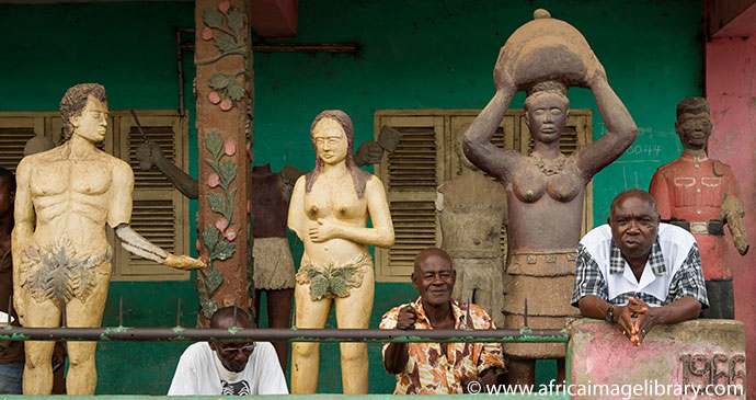 Posuban shrine of Adam and Eve in Elmina, Ghana by Ariadne Van Zandbergen, Africa Image Library, www.africaimagelibrary.com