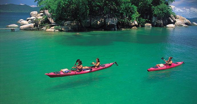 Kayakers Lake Malawi, Malawi by Kayak Africa