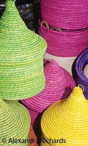 Handmade baskets © Alexandra Richards