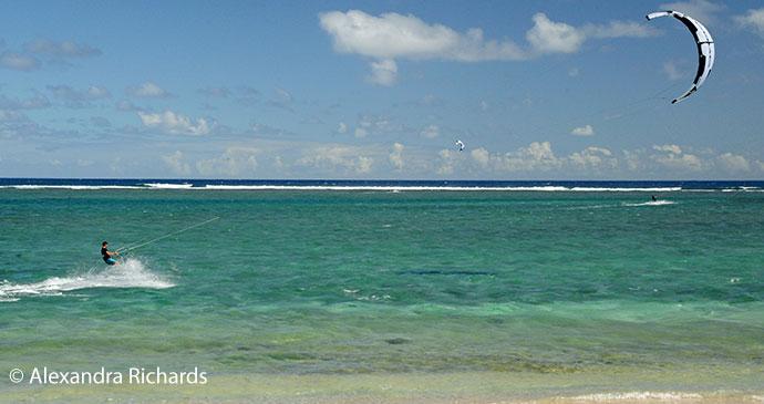 Kitesurfing Mauritius by Alexandra Richards