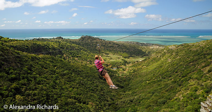 Ziplining Rodrigues by Alexandra Richards