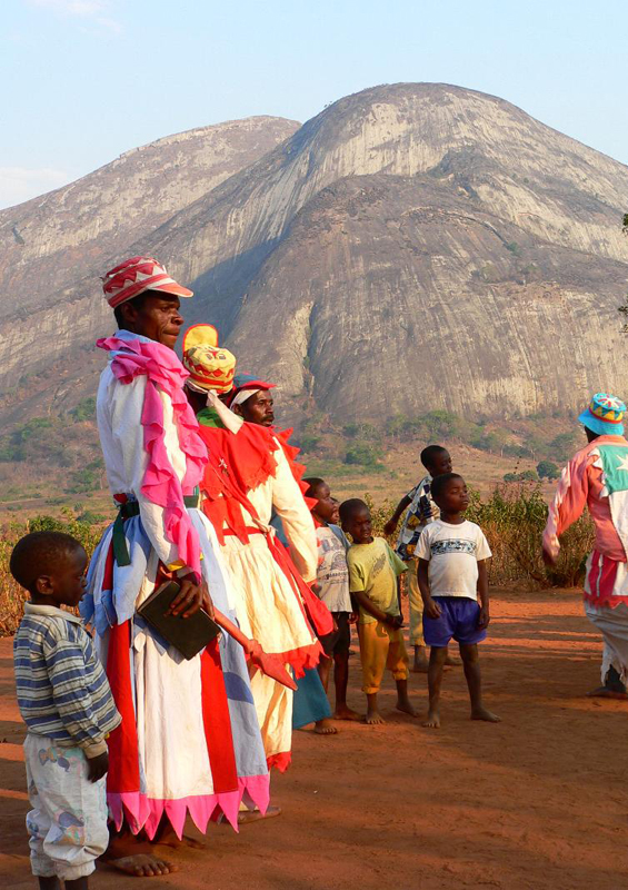 VaPastori sect dancers, Monte Zembe near Chimoio by Mike Slater