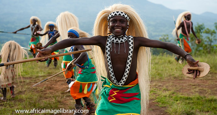Intore dancing in Rwanda © Ariadne Van Zandbergen, Africa Image Library