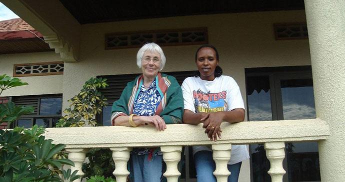 Janice with Chantal Rwanda by Janice Booth
