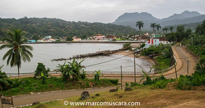 Panoramic views of Santo António, the capital of Príncipe, São Tomé and Príncipe by Marco Muscarà, www.marcomuscara.com