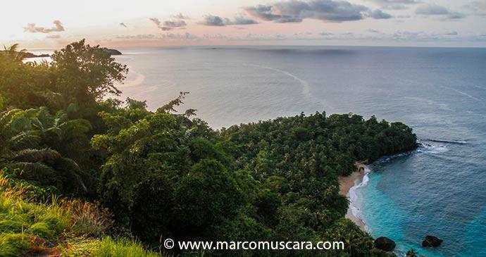Sunset at Banana beach in Príncipe, São Tomé and Príncipe by Marco Muscarà, www.marcomuscara.com