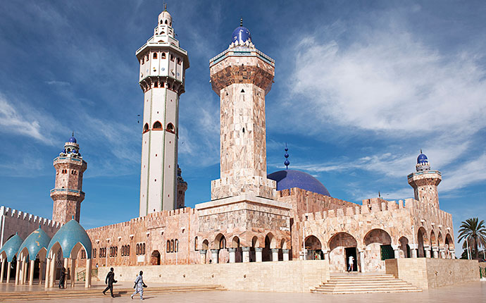 Great Mosque Touba Senegal by Franco Visintainer Wikimedia Commons