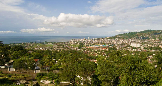 Freetown view by National Tourist Board of Sierra Leone