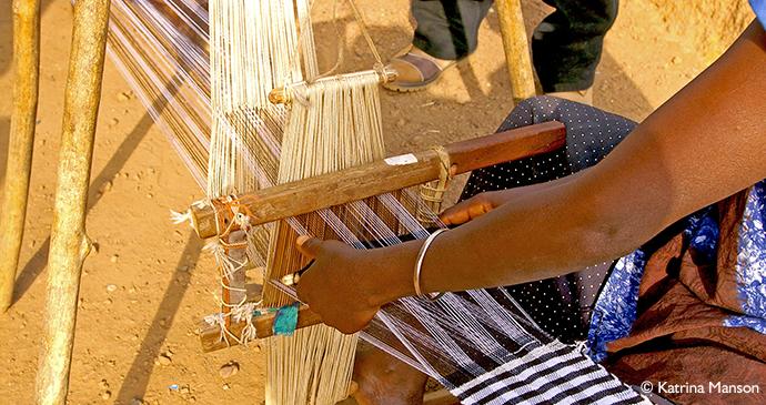 loom weaving in Kabala, Sierra Leone by Katrina Manson