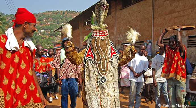 Dancing devil Easter in Sierra Leone by Katrina Manson