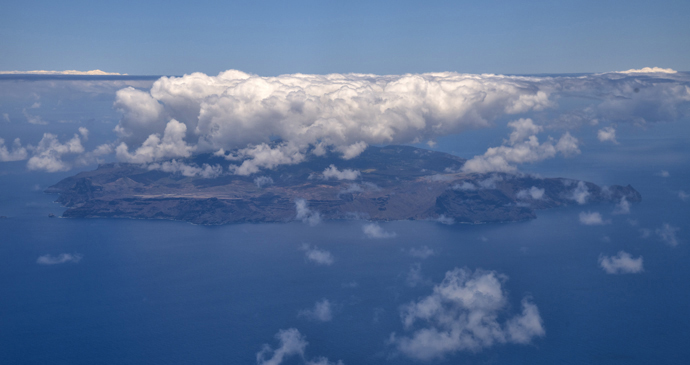 Aerial view St Helena by Scott Bennett
