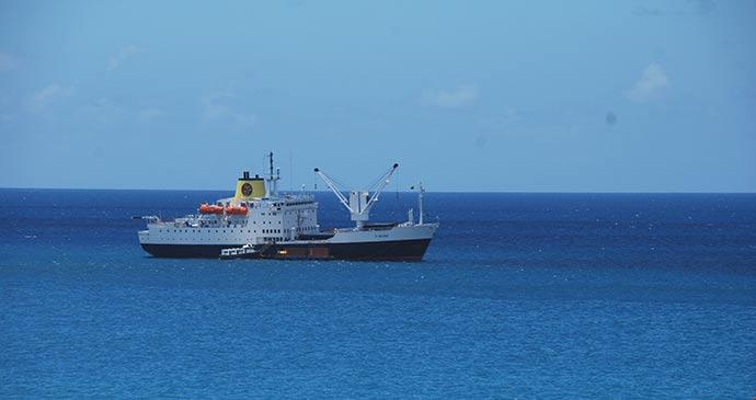 RMS St Helena by Tricia Hayne
