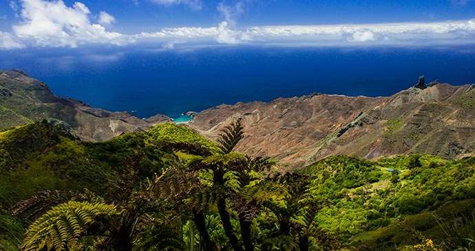 The view over Sandy Bay St Helena Paul Tyson St Helena Tourism