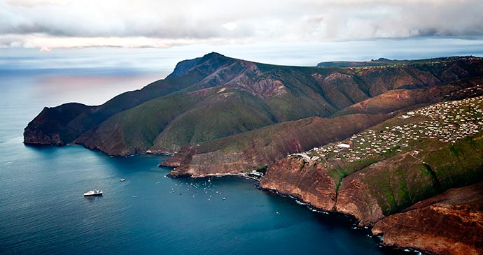 Aerial view St Helena by St Helena Tourism
