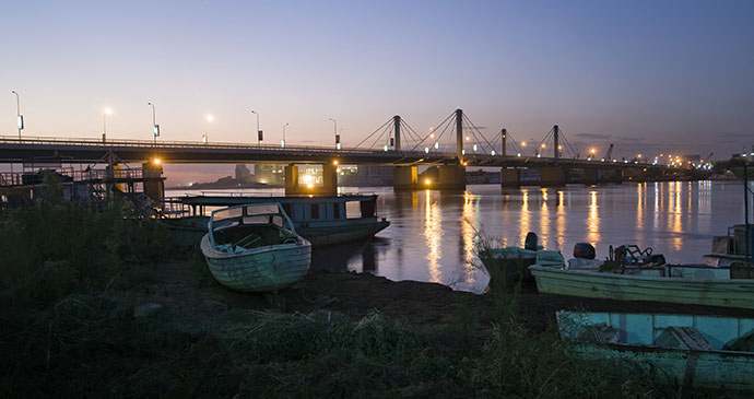 blue nile bridge khartoum sudan by anthon jackson shutterstock