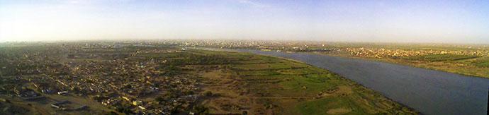 bend river nile khartoum sudan africa by İnebolulu Wikipedia