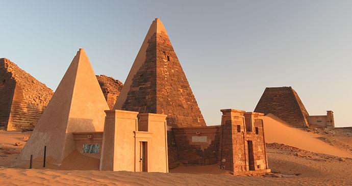 meroë pyramids sudan africa by urosr shutterstock
