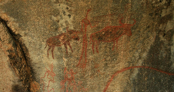 Nsangwini Rock Paintings Swaziland by Steven Fletcher Wikimedia Commons