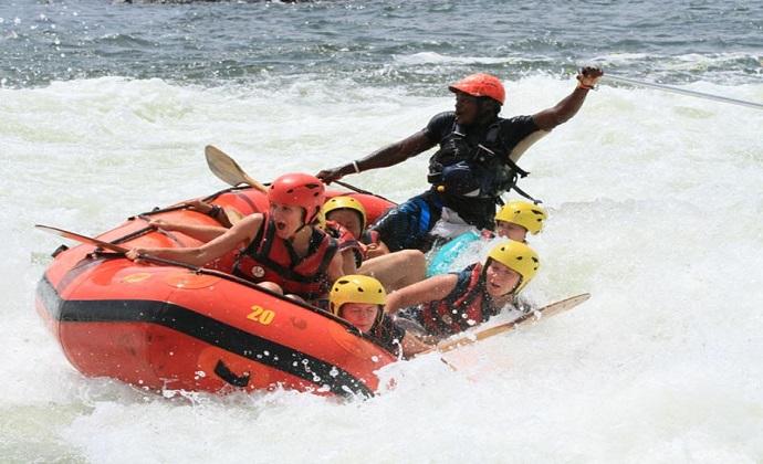 Nile rafting Jinja Uganda by Nile River Explorers