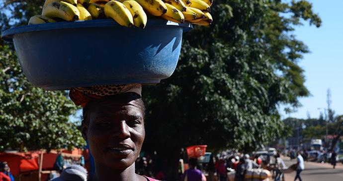 Woman selling bananas, Chipata, Zambia by Luca Roggero, Dreamstime.com