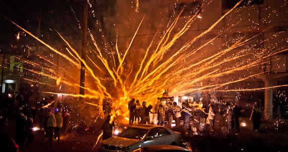 Yanshui Beehive Fireworks Festival Taiwan by Rich J Matheson