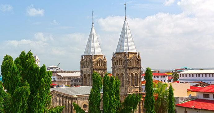 Anglican cathedral Stone Town Zanzibar Tanzania by pearl-diver, Shutterstock