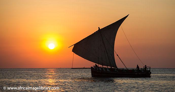 Dhow cruise Zanzibar Tanzania by Ariadne Van Zandbergen, Africa Image Library