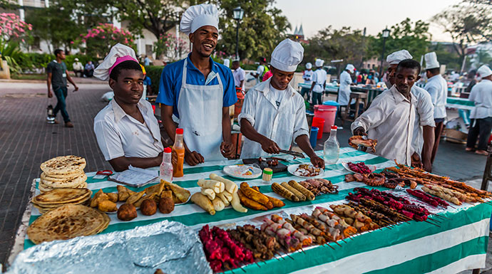 Forodhani Night Market Stone Town Zanzibar Tanzania by Pajac Slovensky Shutterstock best markets in the world