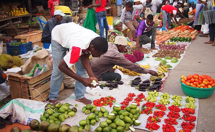 Stone Town market Zanzibar Tanzania